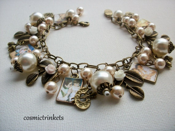 Mary Cassatt  Mother and Child Picture Charm Bracelet