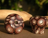 Brown Spiral Drawer Pull Set of Two Knobs...