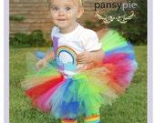 Rainbow Tutu Dress Toddler Rainbow Tutu Toddler Skirt Circus Tutu 9 12 18 months