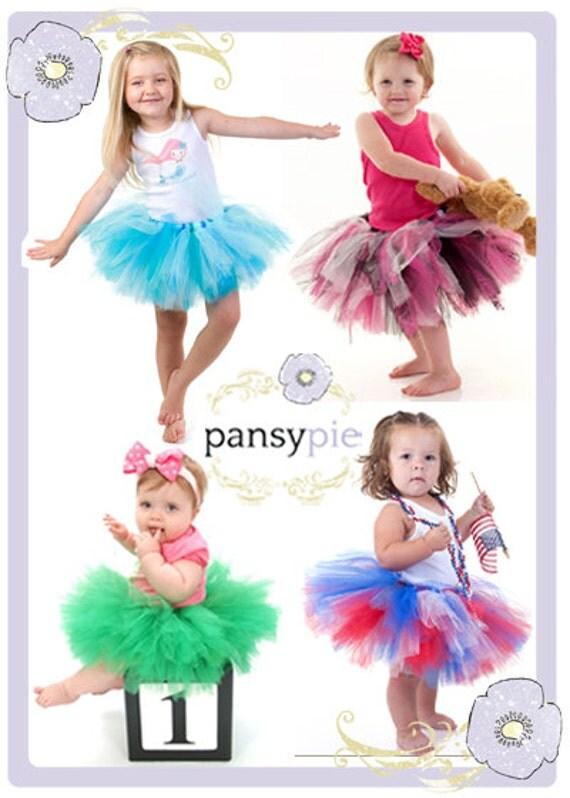 Custom Made Tutu Professional Tutu Baby Tulle Dress Toddler Skirt 9 12 18 months You Choose Colors