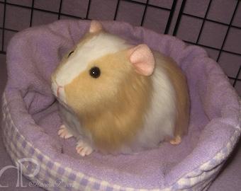 Big Guinea Pig Plushie - Buff and White