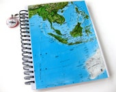 Southeast Asia Map Sketch Book & Journal // Sprial Notebook