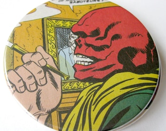 Red Skull Coasters // Recycled Captain America Comic