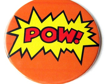 Comic Word Coasters // Collage Art // Pow