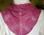 Silk Wool Blend Shoulder Shawl in Rich Rose