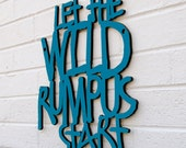 Let the Wild Rumpus Start (Maurice Sendak, Where the Wild Things Are)