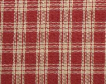 Basic Plaid Wine Cotton Homespun Fabric 1 Yard