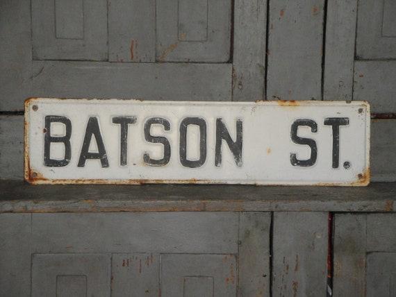 Vintage Black And White Street Sign