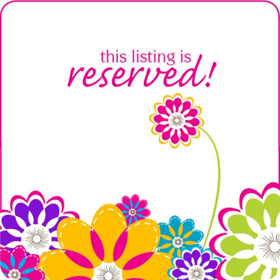 RESERVED LISTING for rosonorogo