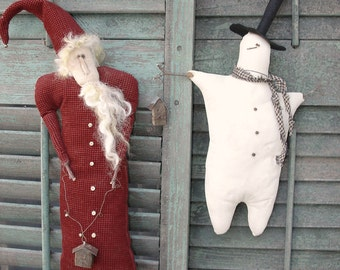 Frankie and Wendell, A Primitive, Folk Art Holiday Pattern