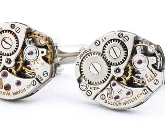 Steampunk Industrial Cufflinks with a Free Cuff Link Gift Box
