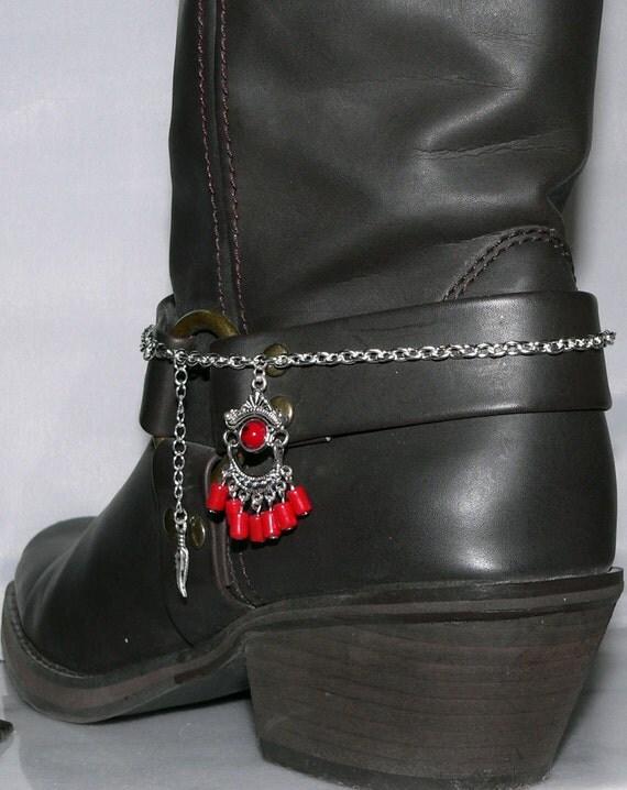 boot bracelet cowboy charm bling heel spur western wear