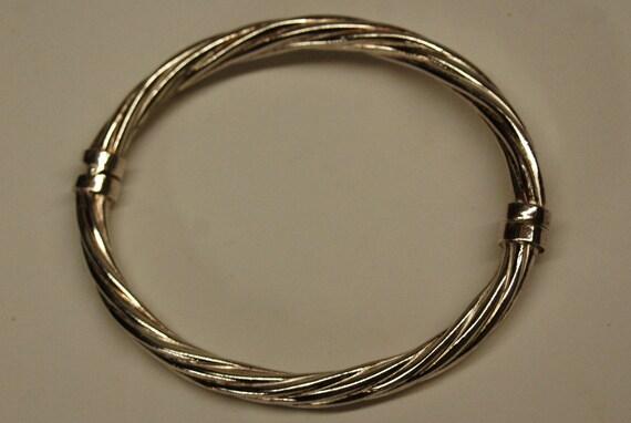 Italian Braided Sterling Silver Bracelet 925