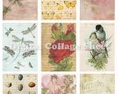 Vintage mixed Backgrounds no.097 ATC ACEO cards digital Collage scrap sheet Buy 3 get 4th free