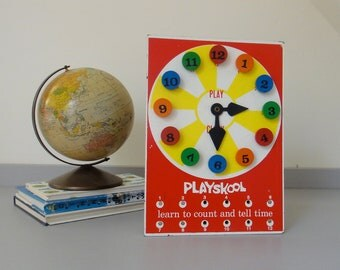 Vintage Playskool Clock - Learn to Count and Tell Time
