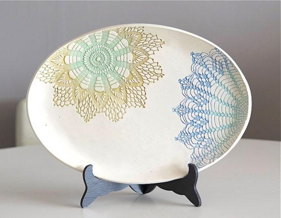 Candied Oval Platter, handmade
