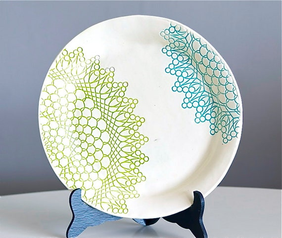 Fiesta Plate - Blue and Green