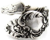 Spoon Ring Mermaid Wrapped Silver Size 5 - 7 Demitasse Columbia Pattern 1800's