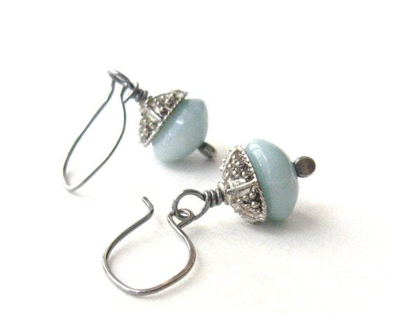 aqua dangle earrings amazonite earrings rustic earrings ocean inspired earrings resort earrings sterling silver ear wires
