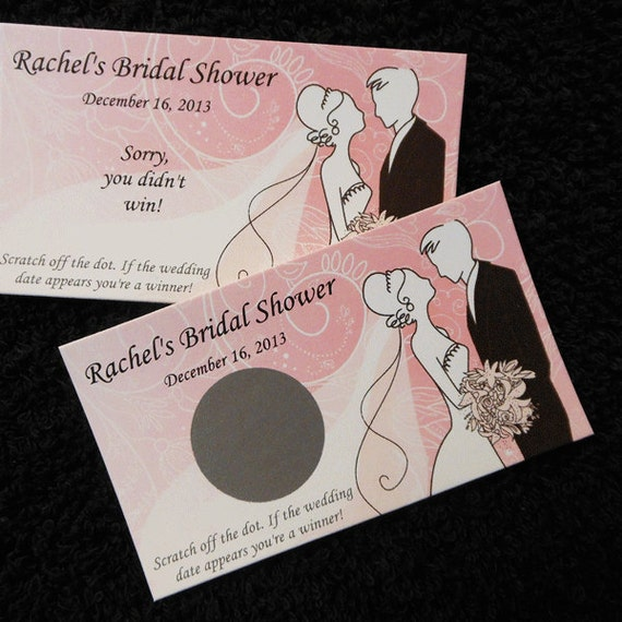 Personalized Bridal Shower Scratch Off Cards Bride And Groom