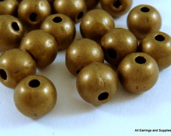 50 - 5mm Antique Bronze  Beads Iron 5mm LF/NF/CF - 50 pc - M7013-AB5mm50
