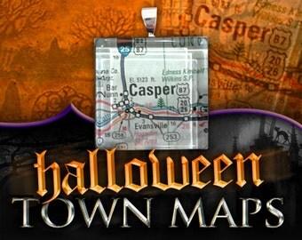 Casper, Wyoming Map Pendant