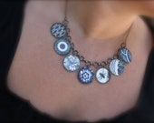 China Blue Asian Inspired Charm Necklace