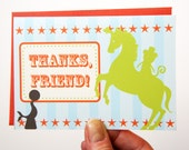 SALE Circus Themed Thank You Note Cards