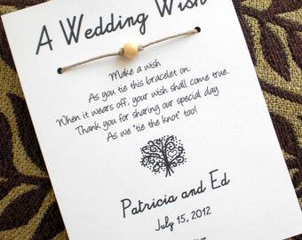 The Love Tree - A Wedding Wish - Wish Bracelet Wedding Favor Custom Made for You