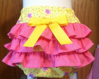 Girls Ruffled Diaper Cover Size Nb-18mos