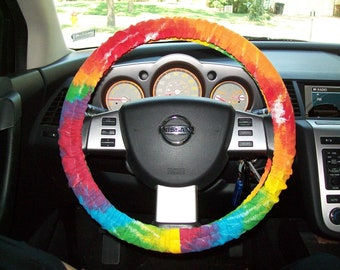 Tie Dye canvas Steering Wheel Cover