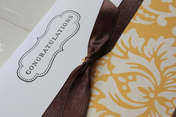 Mustard & Bow Congratulations Gift Card-Money or Voucher Holder