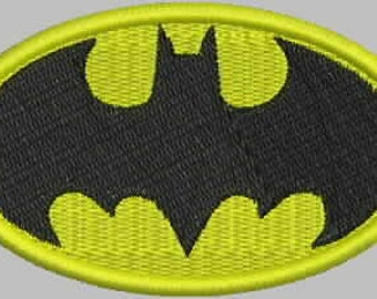 Batman Patch Embroidery Design