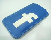Leather Sleeve - FB leather iPhone 5 Case ( Blue )