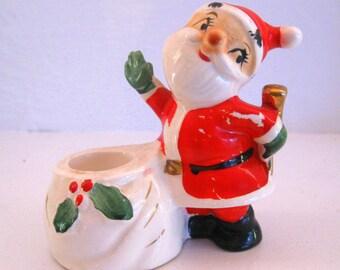 Howard Holt Christmas Santa Candle Holder 1958