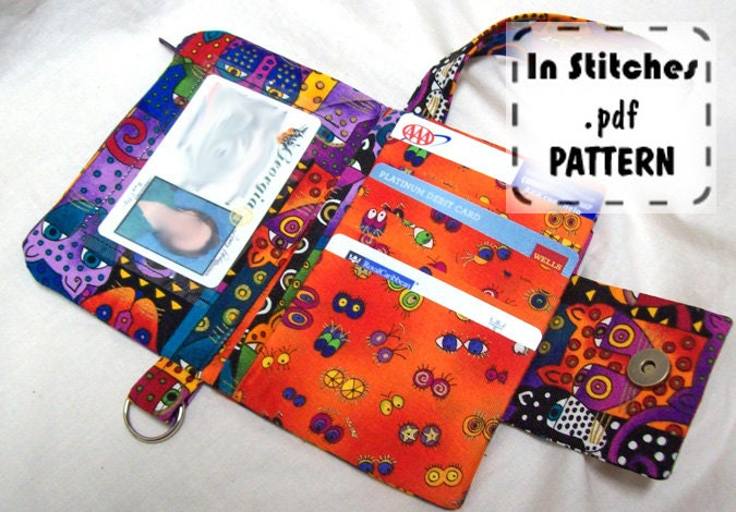 Small Wallet Wristlet Pdf Pattern Diy Clutch Instructions