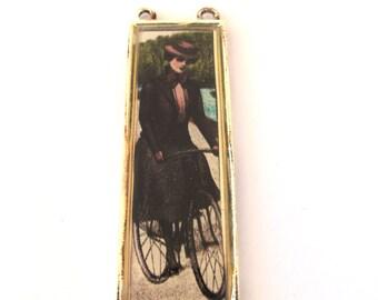 Vintage Graphic 55mm x 20mm Pendant, 1051-26