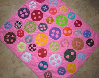BUTTONS a Baby Quilt from Quilts by Elena Applique Wall Hanging