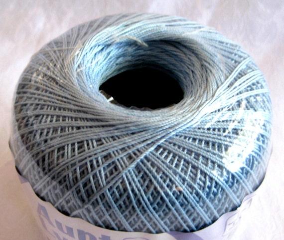 DELFT Blue Crochet Cotton Thread, size 10,  Aunt Lydias Classic Crochet Thread, 480