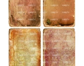 Grunge Vintage Papers- 3 X 5  -  Printable Digital Collage Sheet - Digital Download
