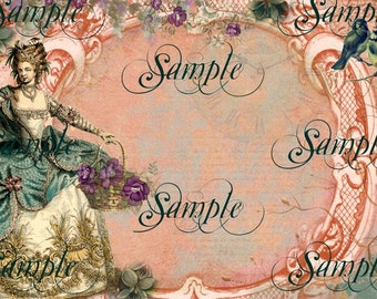 Instant Download - Victorian Calling Card/ Business Card No. 18REG -  Digital Download -  Printable DIY