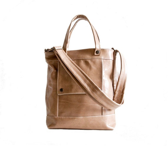 Packet in Caramel Tan Leather - LAST ONE - Made to Order