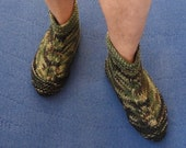 Knitting Pattern -- Camouflage Boot Slippers for Men