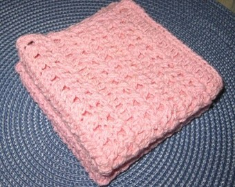 Cotton Dishcloth Set of Two Pink