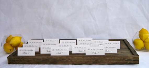 Rustic/Vineyard Wedding Place Card/Escort card  Box/Tray (Ships by Thursday via 2day fedex)