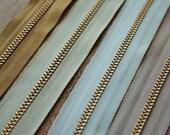High quality Brass zipper...12 feet .... choice of color