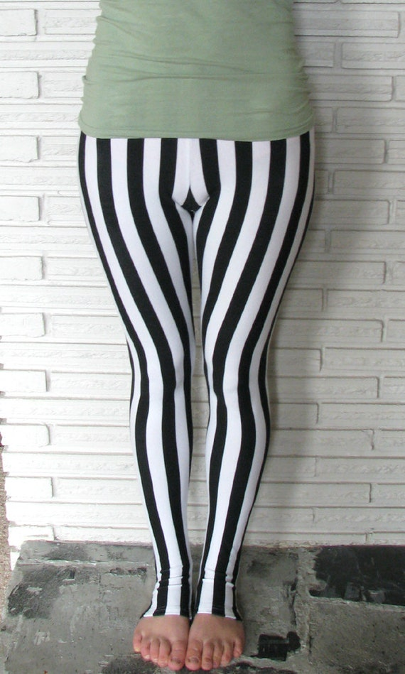Vertical Stripe Leggings, Cirque Aerial Stirrup Pants, Made to Order