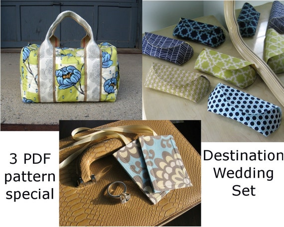 Destination Wedding Sewing Pattern Pack Special 3 PDF Patterns With Faster Luggage Tags