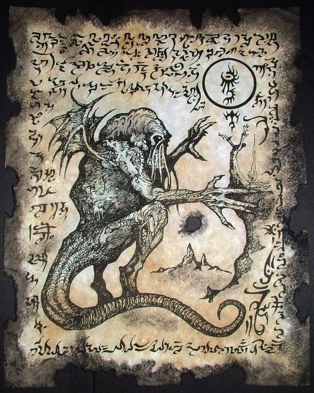 CTHULHU CULT RITUALS Necronomicon fragments occult dark art