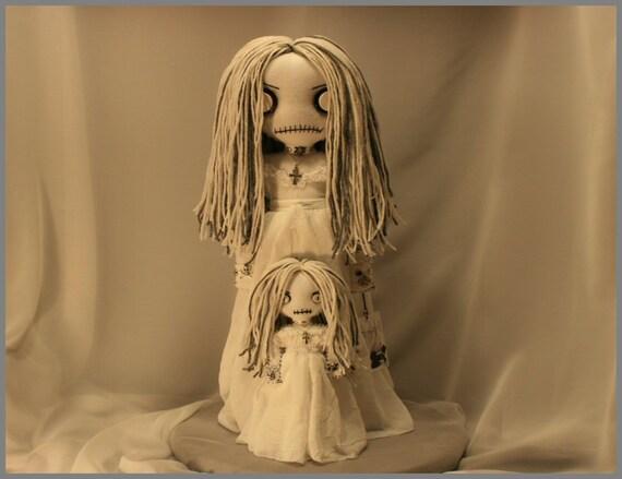 OOAK Spooky Ghost Dead Rag Doll Creepy Gothic Halloween Folk Art By Jodi Cain